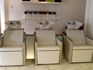 Widnes hairdressers wash basins Macadamia